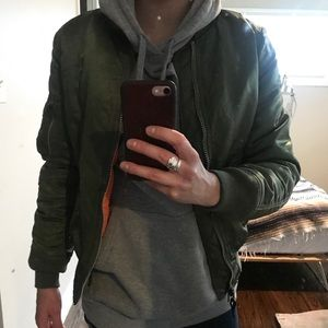 Original Green Alpha Industries Bomber Jacket!